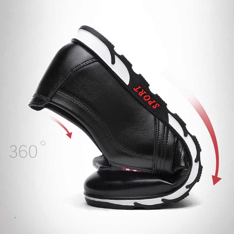 LAKESHI nowe skórzane buty mężczyźni buty w stylu casual 2019 moda mężczyzna mokasyny wiosna miękkie buty do jazdy samochodem ręcznie męskie Chaussure Homme