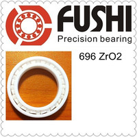 Free Shipping 1 PCS 696 Full Ceramic ZrO2 6x15x5 6mm 15mm 5mm ZrO2 Ceramic Ball Bearing