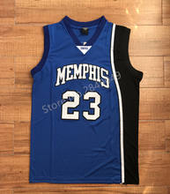 08bb2d3b0 Vintage Derrick Rose #23 Memphis Tigers College basketball jersey all size Embroidery  Stitched(China