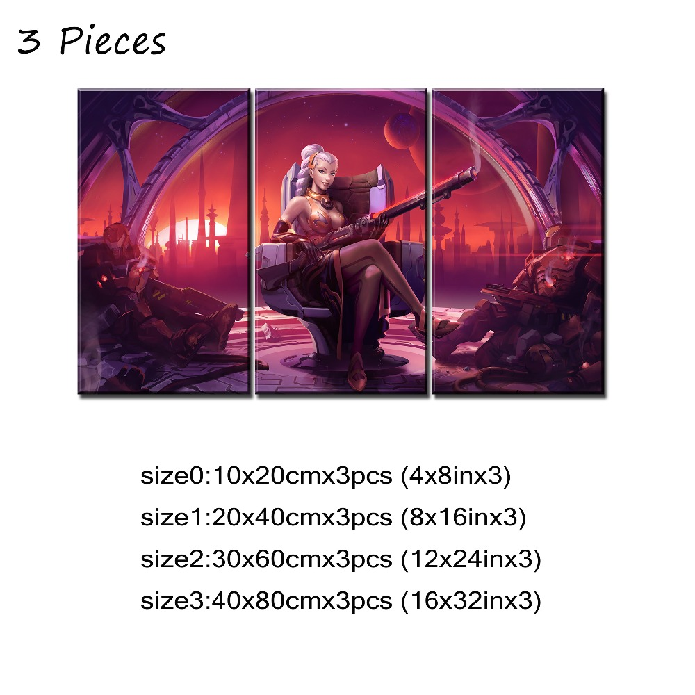 Modern Wall Art Canvas Painting Modular 5 Piece Guitarist Lian Hero  Paladins Game Poster Home Decor Living Room Or Bedroom