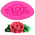 Free shipping Mini with silicone fondant sugar rose leaves soap mold process mold silicone mold cooking tools F0050