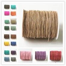 5 medidores bola shimmer corrente em latão, 21 cores, 1.5mm pulseira colar bola corrente, borla corrente, anti-tarnihs, qualidade superior