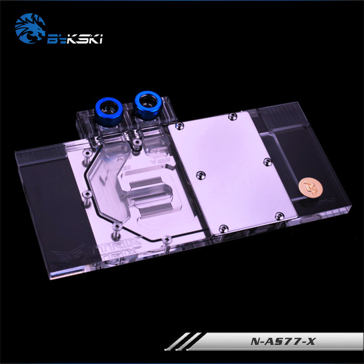 BYKSKI Full Cover Graphics Card Block use for ASUS GTX770-DC2OC-4GD5 / DC2-2GD5 Copper Radiator Block use for Video Card RGB цена