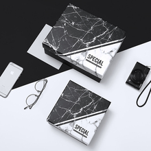Fashionable gift box Customized Imitation marble Carton Creativity Business Haute Couture Large