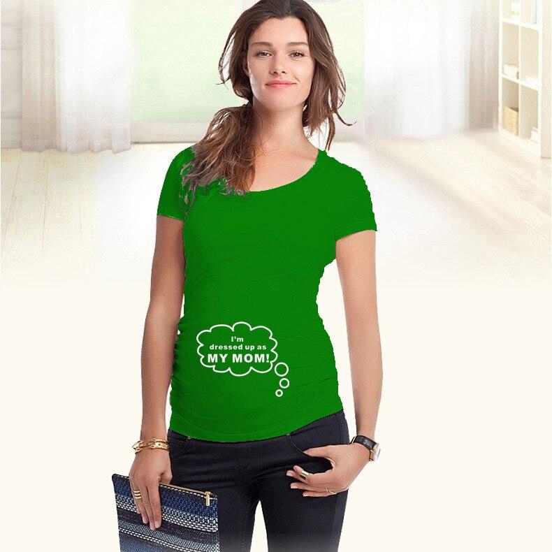 """""""मैं अपनी माँ के रूप में तैयार हूं"""" मातृत्व शर्ट गर्भवती महिलाओं के लिए विशेष आकार के साथ यूरोपीय बड़े आकार XXL"""