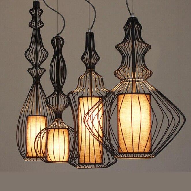 Vintage Pendant Lights White/black Color Lampshade Loft Style Kitchen Dining Room Luminaire  Retro Pendant Lamp