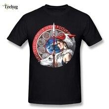 Princess Mononoke Mans T Shirt Brand Design Japanese Anime Homme Tee Casual Camiseta