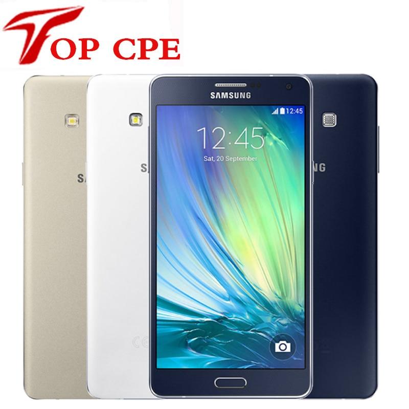 "Original Unlocked Samsung Galaxy A7 A7000 Mobile phone 2G RAM 16G ROM 13MP Camera 5.5"" dual sim card LTE WCDMA Refurished"