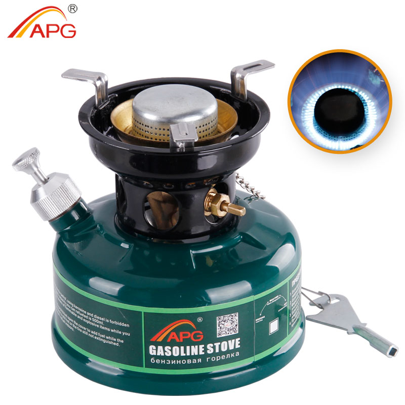 ФОТО APG Camping Gasoline Stove Non Preheating No Noise Oil Stove Burners Outdoor Cookware