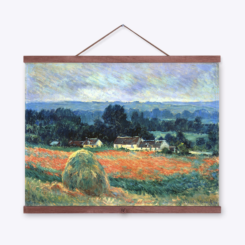 Claude monet impressionist haystack rural flower landscape poster prints original cottage canvas oil painting home wall