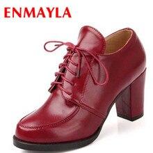 ENMAYER Vintage Sexy Red Bottom Round Toe High Heels Women Pumps Shoes 2014 Brand New Design Less Platform Pumps 4colors