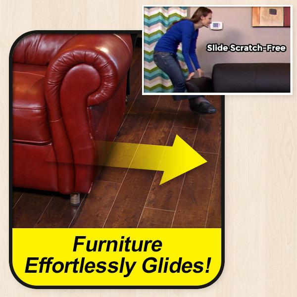 Heavy Duty Plastic Furniture Table Chair Sofa Feet Leg Bottom Glides Skid Tile Floor Protector Nail on with rubber pad-in Furniture Legs from Furniture on ...