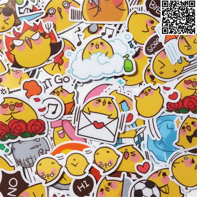 42 Pcs Chicken Po Daily Paper Sticker For Luggage Skateboard Phone Laptop Moto Bicycle/Eason Stickers/DIY Scrapbooking