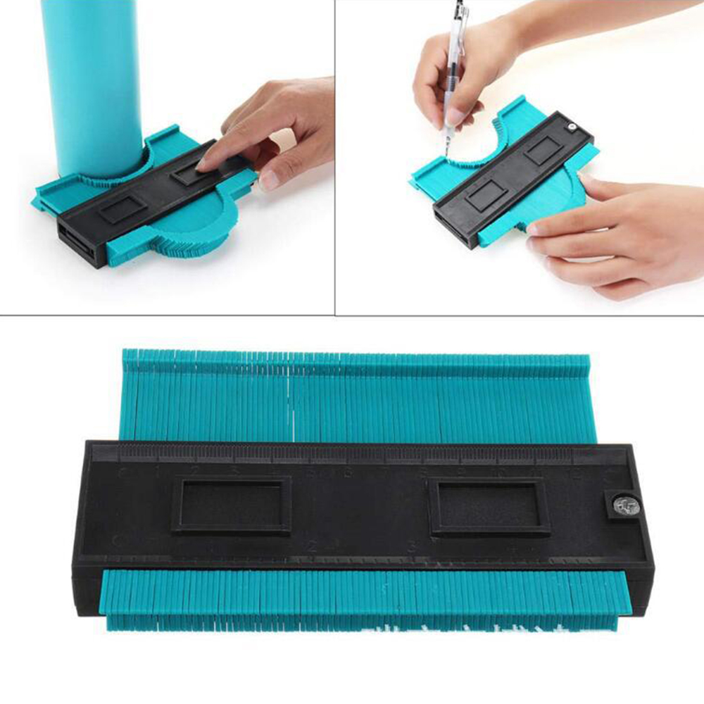 Irregular Contour Meter Curved Ruler Plastic Instrument Profile Proportion Template Curvature Tiled Laminate Universal Hand Tool