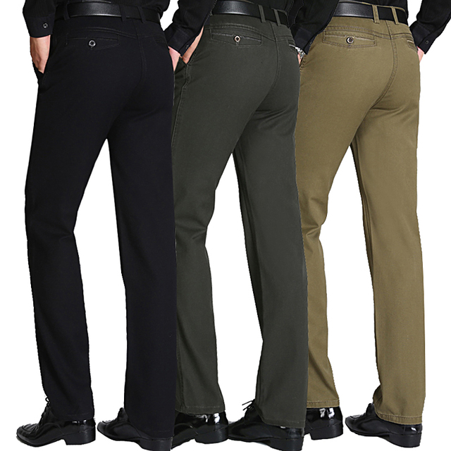 Male Autumn Spring Casual Leisure Pants Autumn Loose Straight Men's Long Trousers Winter