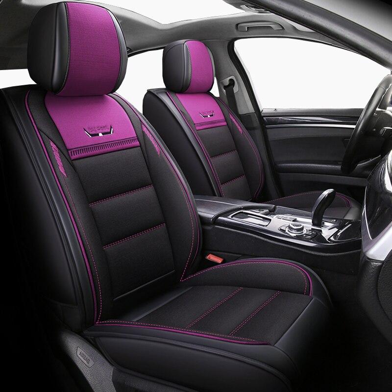front+rear Automobiles & Motorcycles leather&flax Auto Seat Covers For Mazda All Models Cx5 Cx7 Cx9 Mx5 Atenza Mazda 2/3/5/6/8 Auto Accessories Car Interior Accessories