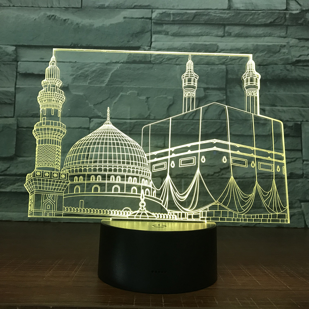 Temple Castle Palace 3d Lamp 7 Color Led Night Lamps For Kids Touch Led Usb Table Lampara Lampe Baby Sleeping Nightlight
