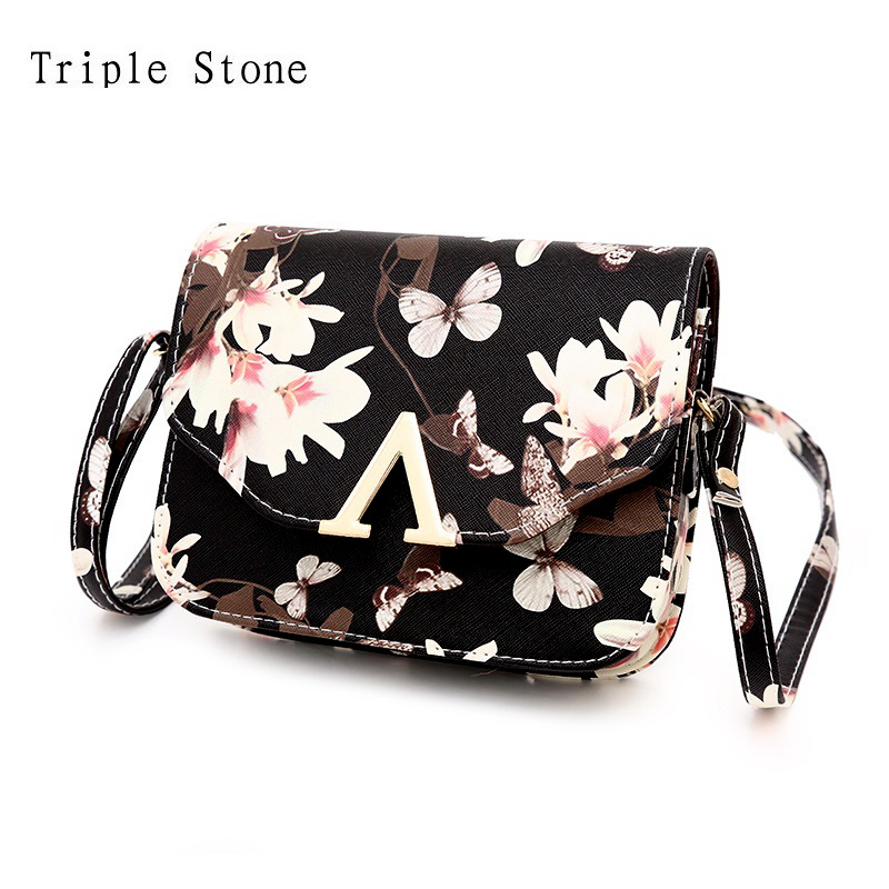 New Spring Flower Butterfly Print Mini Women Crossbdy Cross Body Bag Female Leather Flap Messenger Bag V Word Famous Purses characteristic floral and butterfly shape lace decorated body jewelry for women