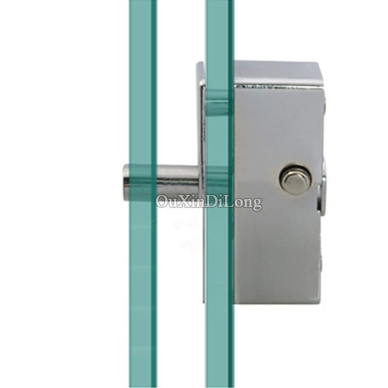 Slide Lock For Glass Door: HOT 2PCS Frameless Glass Door And Window Lock Shower