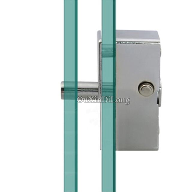 HOT 2PCS Frameless Glass Door And Window Lock Shower/Balcony Sliding Glass  Bolt Lock Moving