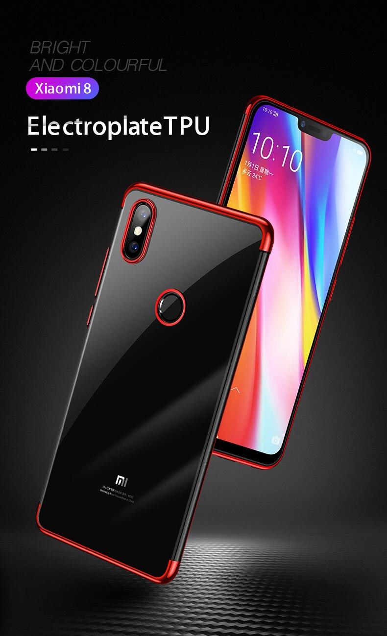 HTB1ROi XcnrK1RjSspkq6yuvXXaJ Case Capinha Capa de celular luxuosa original, capa tpu macio transparente, para xiaomi mi 8 mi8 se, xiaomi 8 lite explorer