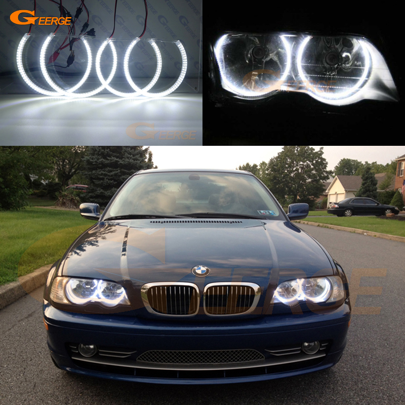 Us 37 99 11 Off For Bmw E46 Coupe 2000 2003 Pre Facelift Halogen Headlight Excellent Ultra Bright Illumination Smd Led Angel Eyes Kit In Car Light