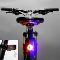 Lumiparty Ultra Bright Bike Light USB Rechargeable Bicycle Tail Light LED Caution Warning Light
