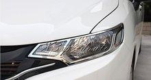 Для Honda Fit/Jazz 2014 15 Наклейки для автомобиля головы передняя крышка свет лампы Накладка 2 шт. Chrome автомобиль-Стайлинг