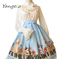 2016 весной и летом оригинальный дизайн ЛОЛИТА Цифровая печать клавиатуры мяу юбки Сладкий и мило юбка