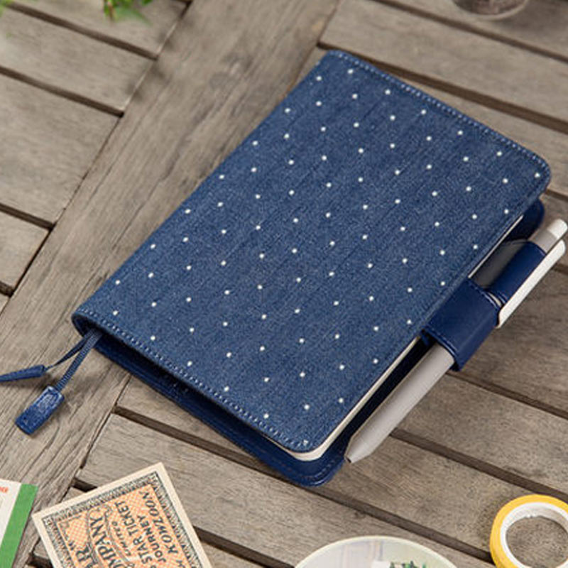 Hobo Japanese Style Diary Notebook Denim Faux Leather A5 A6 Notepad Creative Planner kokuyo hotrock binding notepad soft copy a5 80wcn n1081