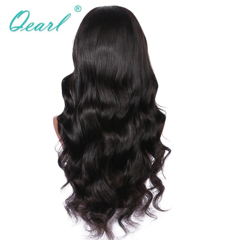 Keskosas täis pitsid inimese juuksed parukad mustad naised Big Bode - Inimeste juuksed (must)