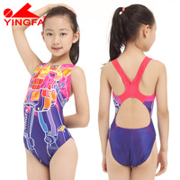 professional girls swimwear kids one piece swimsuits children tight bathing suits for racing competetion toddler girl bathers