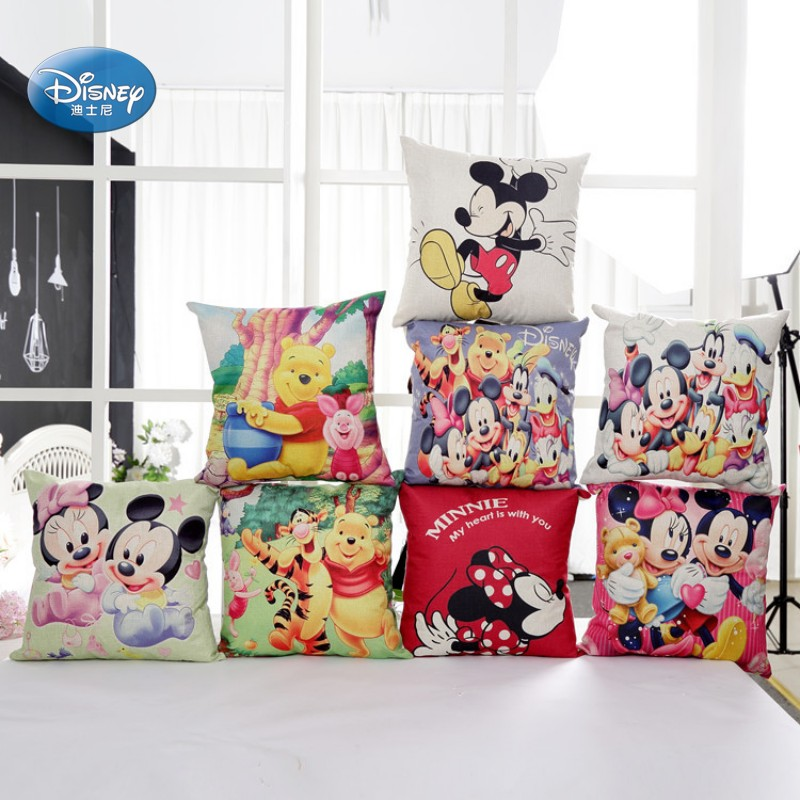 Disney Cartoon Series Mickey Minnie Princess Decorative/nap Pillow Cases Cover Pillowsham Cushion Cover For Children 45x45cm