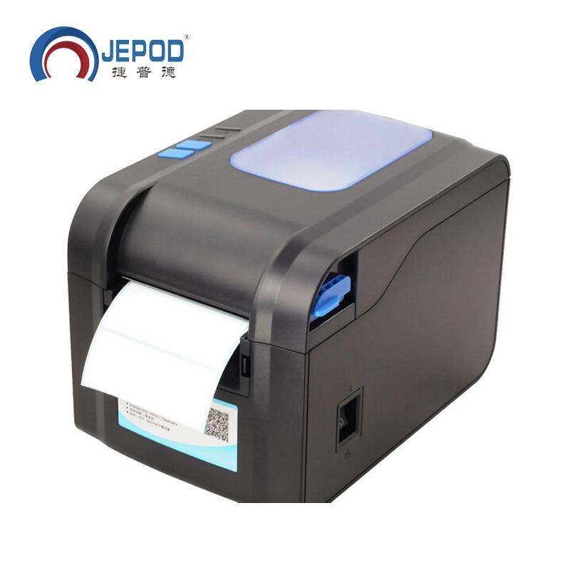 XP-370B etiqueta de código de barras impressora térmica recibo ou 20mm a 80 milímetros impressora de código de barras térmica impressora de etiquetas automática stripping