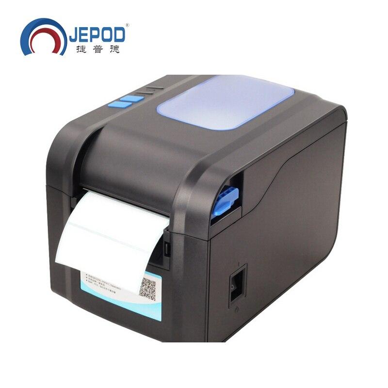 Imprimante thermique de reçu ou d'étiquette d'imprimante de code barres d'étiquette de XP-370B 20mm à 80mm