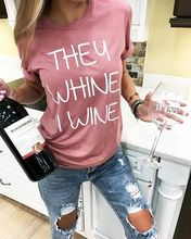 """""""They Whine I Wine"""" girlie shirt"""