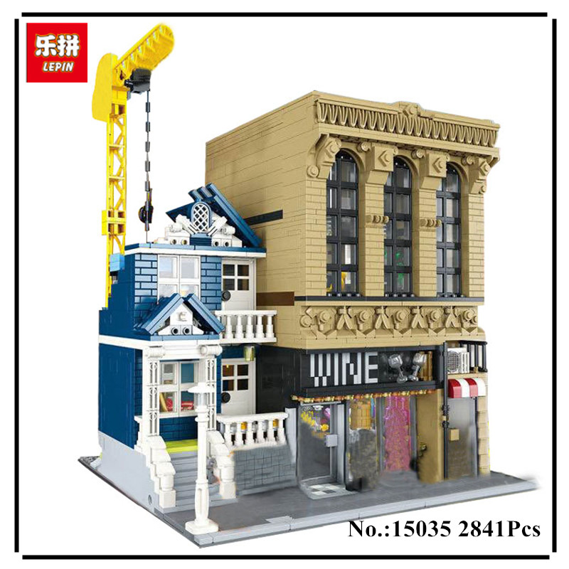 IN STOCK Lepin 15035 2841Pcs Genuine Creative Streetsight MOC Series The Bars and Financial Companies Set Building Blocks Bricks oscar chiwira financial development and economic growth stock market perspective