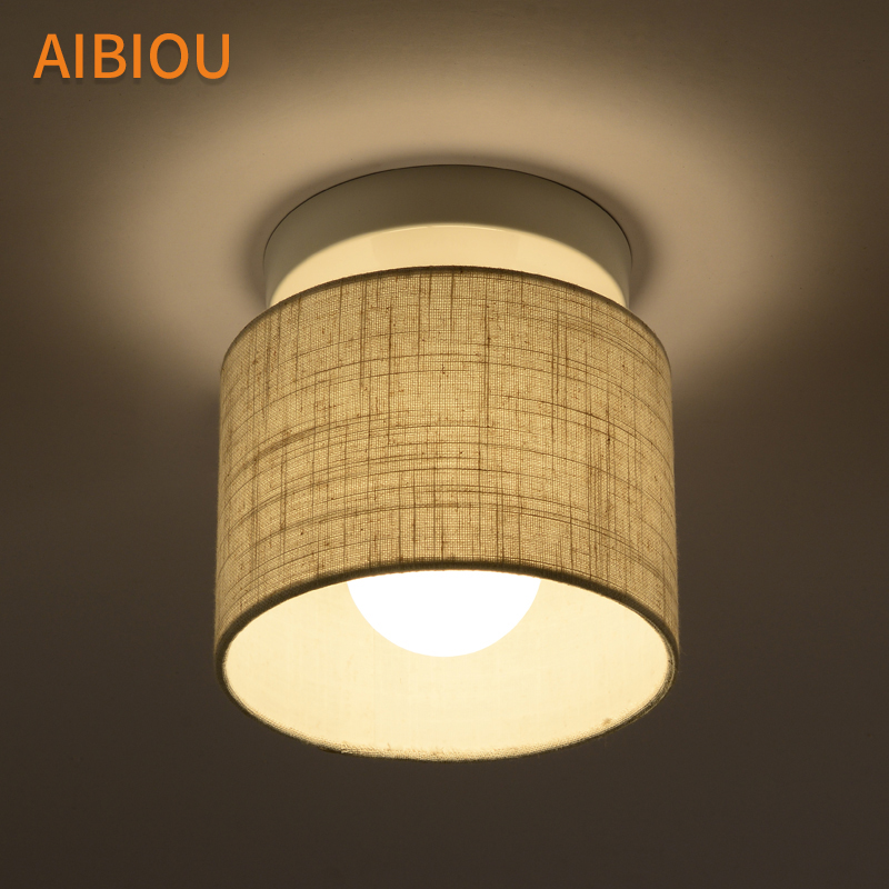 AIBIOU Simple LED Ceiling Lights Modern Round Ceiling Lamp For Corridor Kitchen Luminare Fabric Frame Bedroom Lighting Fixtures AIBIOU Simple LED Ceiling Lights Modern Round Ceiling Lamp For Corridor Kitchen Luminare Fabric Frame Bedroom Lighting Fixtures