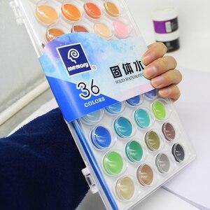 Image 5 - Geheugen 36 Kleuren Aquarel Verf sets Professionele Water Kleuren voor Schilderen Papier Kunst Levert Met Gratis Borstels Palet