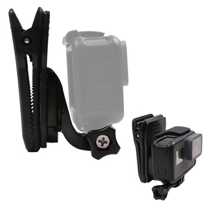 Image 5 - 360 Degree Rotation Clip Backpack Hat Clamp With J Hook Mount for GoPro Hero 7 6 5 4 for Sjcam Sj6 for Xiaoyi 4K Action Camera