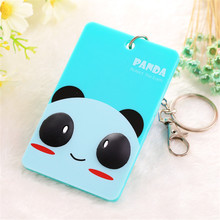 Cards Cover Card Case Holder Portable Plastic Cute Cartoon Panda Cat Care Student ID Identity Badge Credit(China)