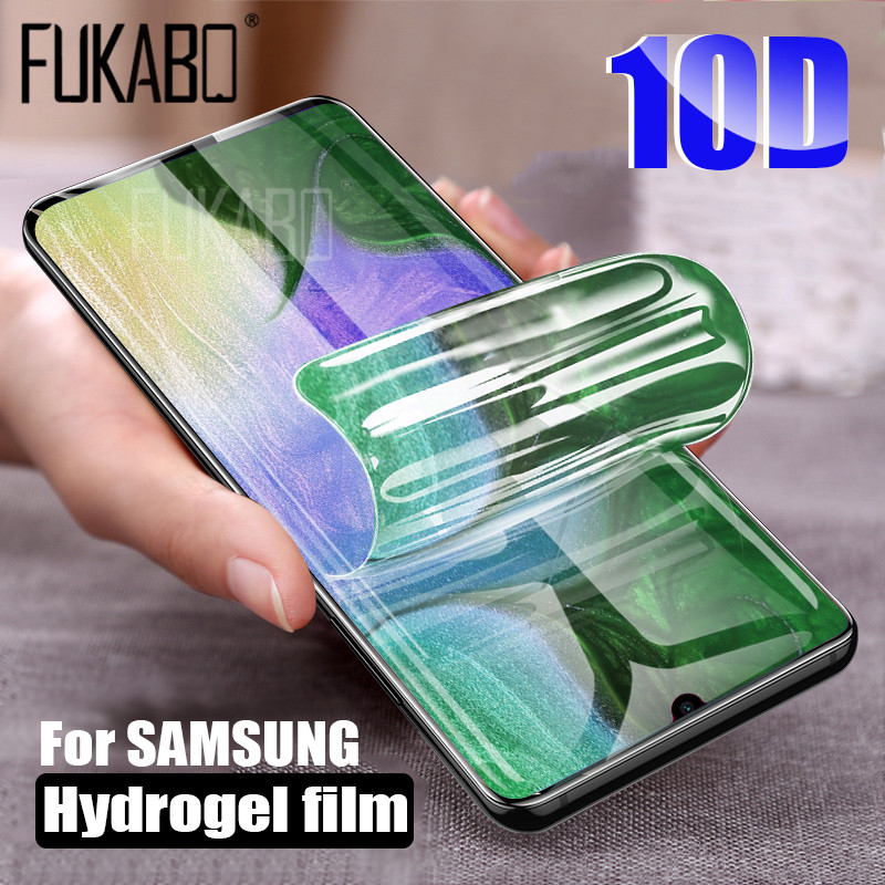 10D Screen Protector For Samsung Galaxy S10 S9 S8 Plus S10e Note 9 8 Hydrogel For Samsung A7 2018 A5 2017 S7 EDGE soft Film-in Phone Screen Protectors from Cellphones & Telecommunications