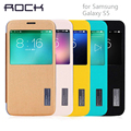 ROCK Original Grace series Leather Case For Samsung Galaxy S5 cover Slim Smart View Shell Auto Sleep Wake Bag Shell cover for S5