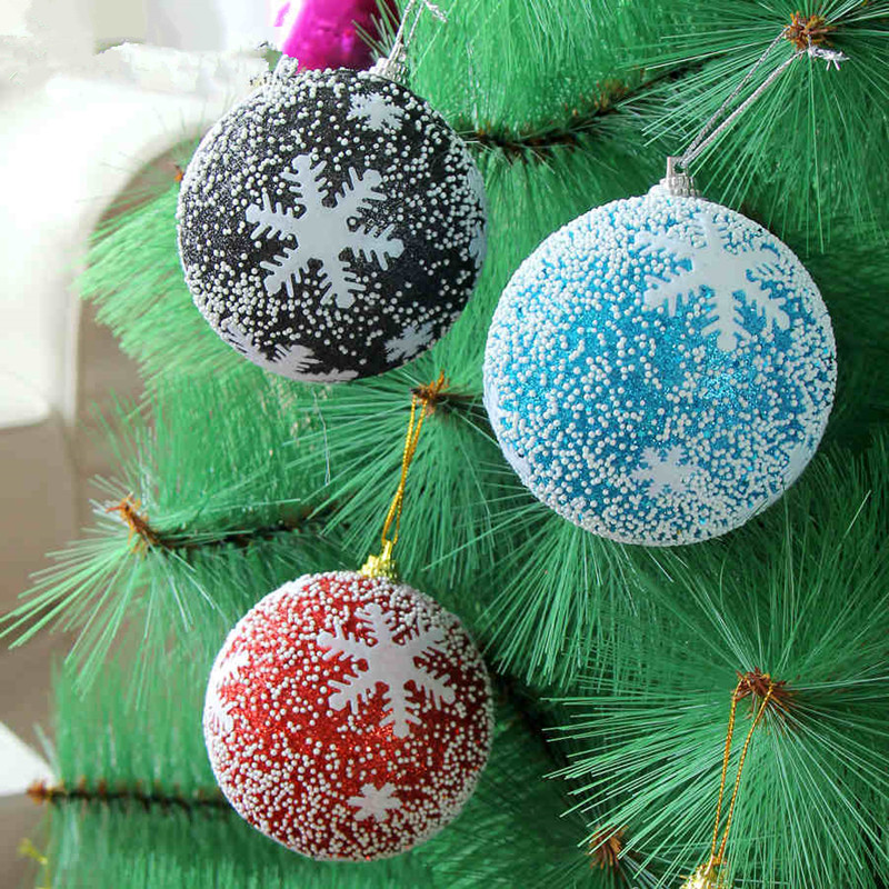 red gold christmas baubles with styrofoam