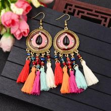 2019 New Color Hippie Boho Kolczyki Etnicos Fringe Beads Drop Dangle Earrings For Women music Festival Party Jewelry