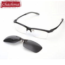 Chashma Brand Top Quality TR 90 Designer Eyewear Fashion Optical Eyeglasses Frames Sport with Polarized Clips Lenses