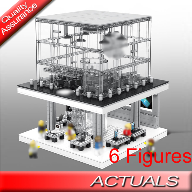 US $32 82 |Sembo SD6900 Hot City Street View LED Sales Flagship Store  Building Blocks Figures Brick Compatible with Lego MOC Architecture-in  Blocks