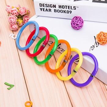 4 pcs 2018 NEW Colorful Flexible Cute Soft Plastic Bangle Bracelet Ballpoint Pens School Office Supplies Birthday Gift Ballpoint Pens