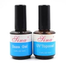 14ml Top Coat Base UV Gel Acrylic Nail Art Polish Gloss Seal Glaze Faster Primer