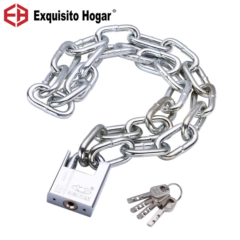 Chain Lock Anti-Theft Chain Lock Anti Shearing Iron Chain Lock Door Tricycle Motorcycle Lock Battery Car Chain Padlock подвесной светильник odeon light tio арт 2164 1